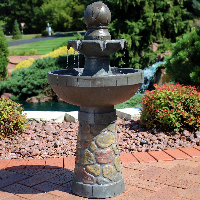 Sunnydaze decor resin outdoor water fountain with light wayfair