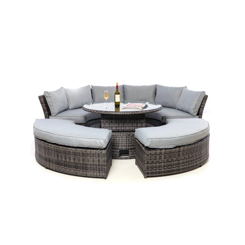 Round Table Marysville.Marysville 8 Seater Rattan Sofa Set