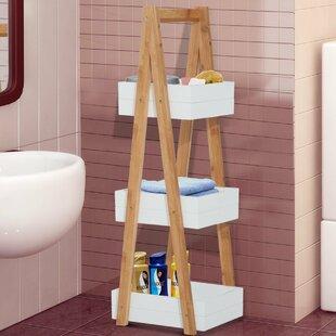 Bamboo 30 X 81cm Bathroom Shelf