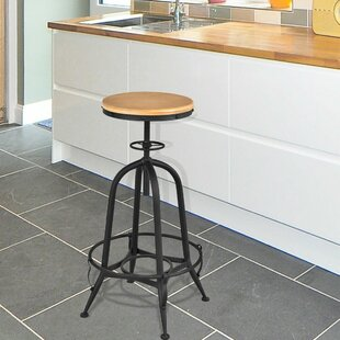 Rasberry Adjustable Height Swivel Bar Stool