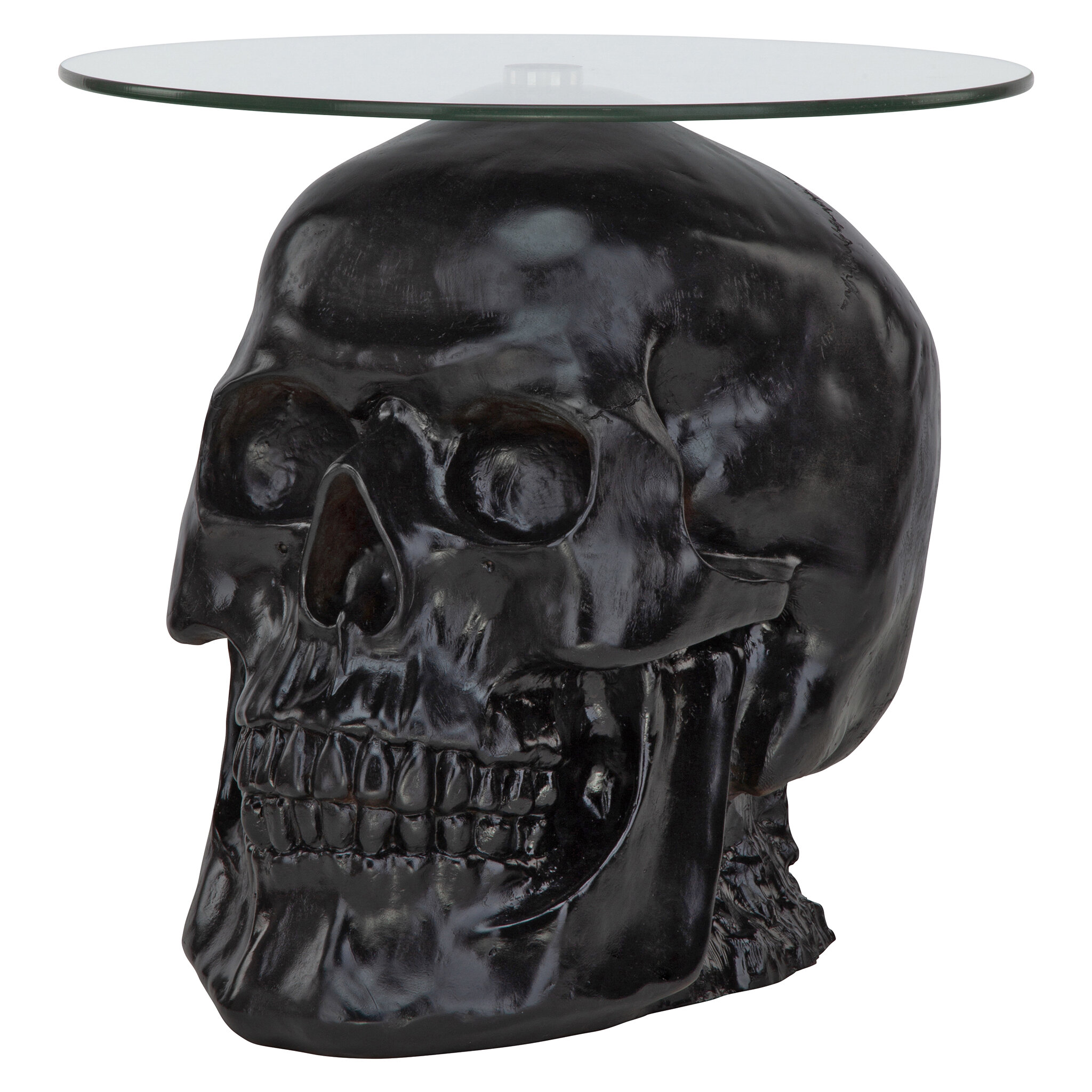 Beau Design Toscano Lost Souls Gothic Skull Glass Topped End Table | Wayfair