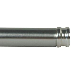 clarence adjustable single curtain rod