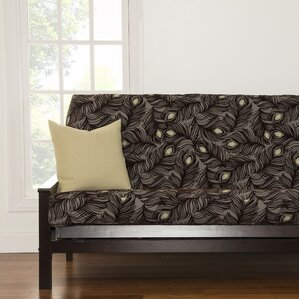 Floral Full Box Cushion Futon Slipcover by Brayden Studio
