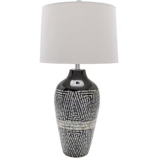 Modern contemporary mother of pearl table lamps allmodern clifton 303 table lamp aloadofball Images