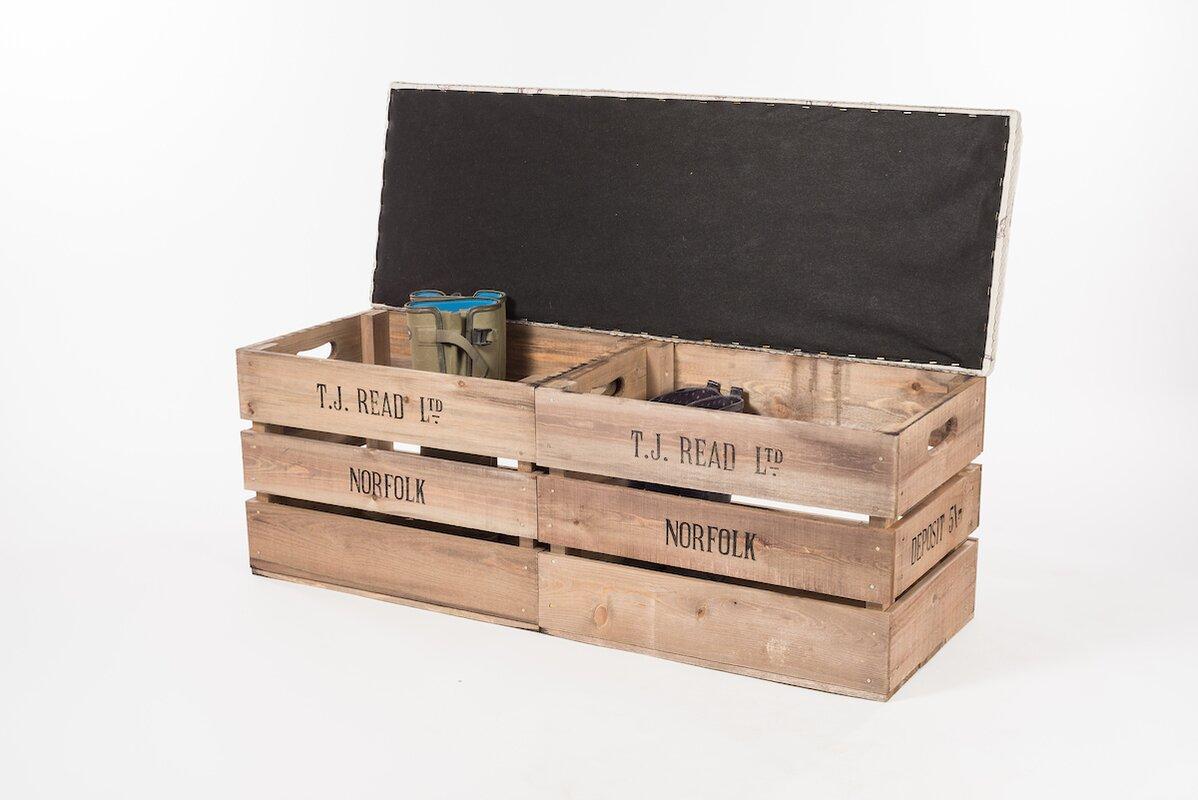tiffany jayne designs gepolsterte sitzbank apple crate aus. Black Bedroom Furniture Sets. Home Design Ideas