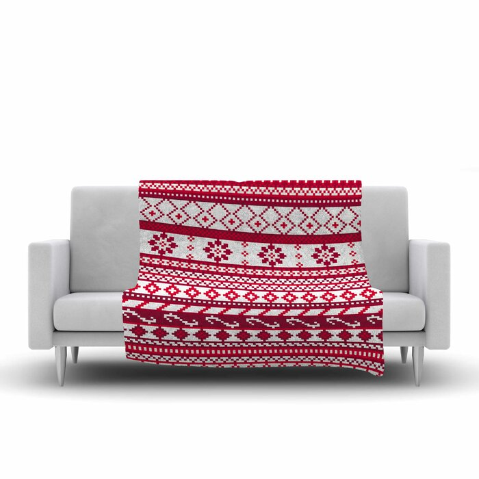 East Urban Home Red Fairisle Christmas Pattern by Noonday Design ...
