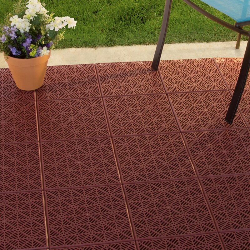 Pure Garden Patio 11 5 Quot X 11 5 Quot Plastic Interlocking Tile