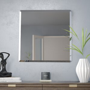 Frameless Wall Mirror frameless mirrors you'll love | wayfair