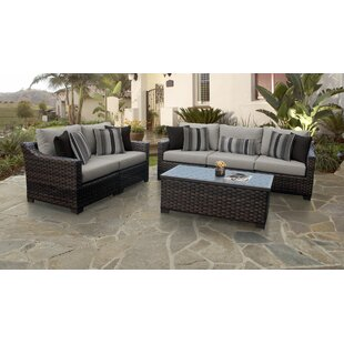 5 Piece Wicker Patio Set Wayfair