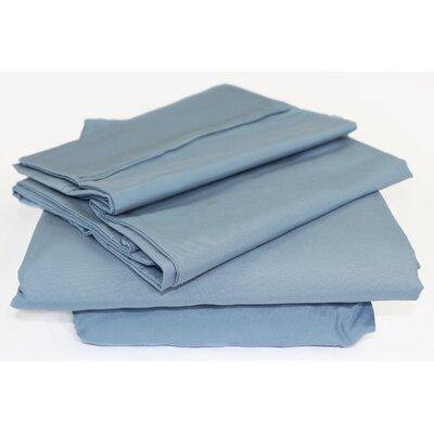 Beacon Linens Safe Haven 4 Piece Sheet Set  Size: Full, Color: Blue