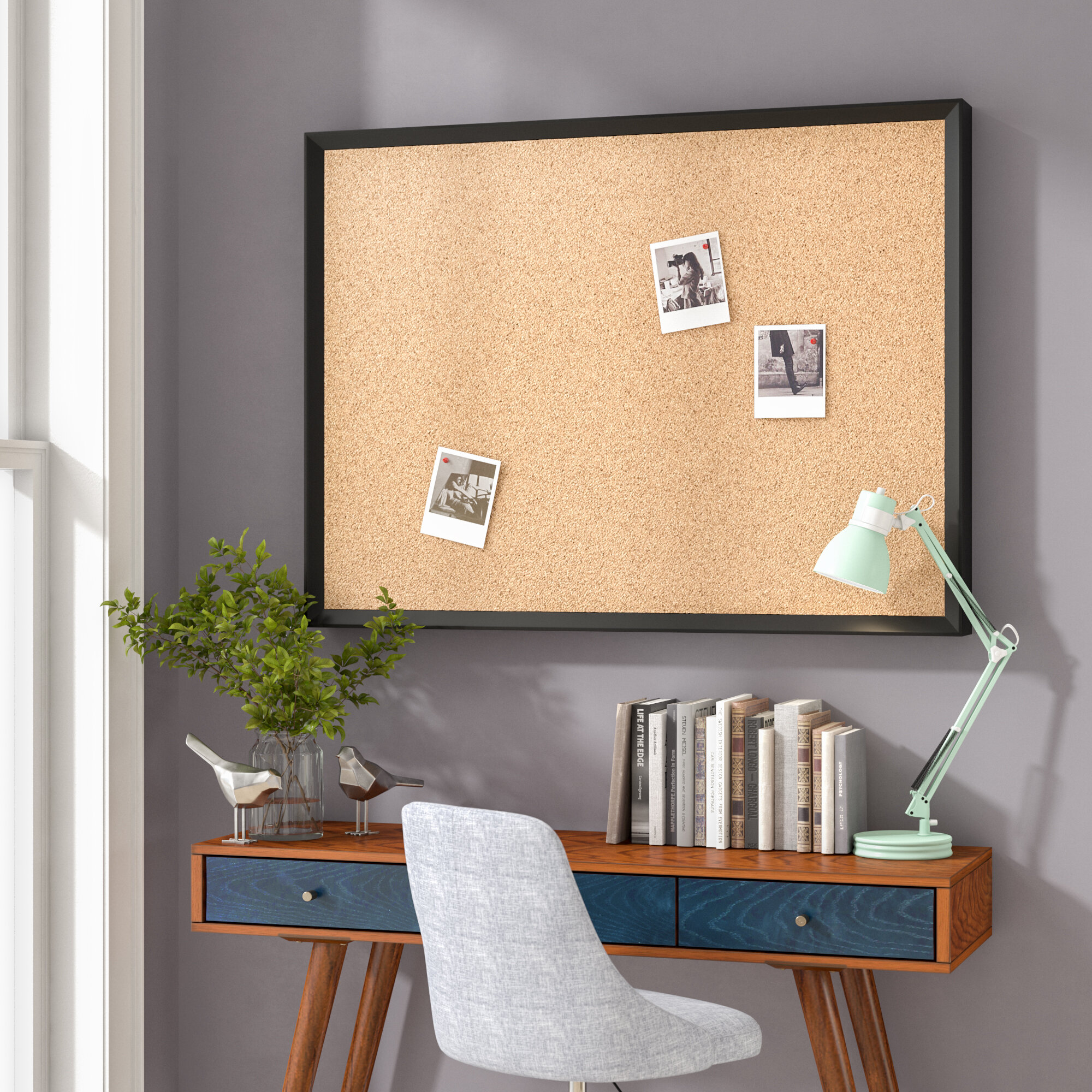 Wrought Studio Phillips Wall Mounted Bulletin Board & Reviews | Wayfair