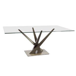 Zhenyu Rectangular Dining Table by Orren Ellis