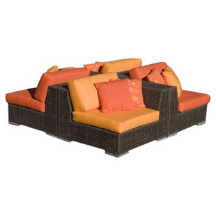 Soho 4 Piece Sunbrella Sectional Set With Cushions Good Ideas