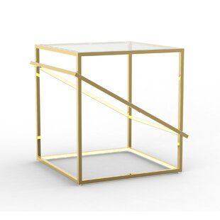 Gilford Stainless Steel Geometric LED End Table