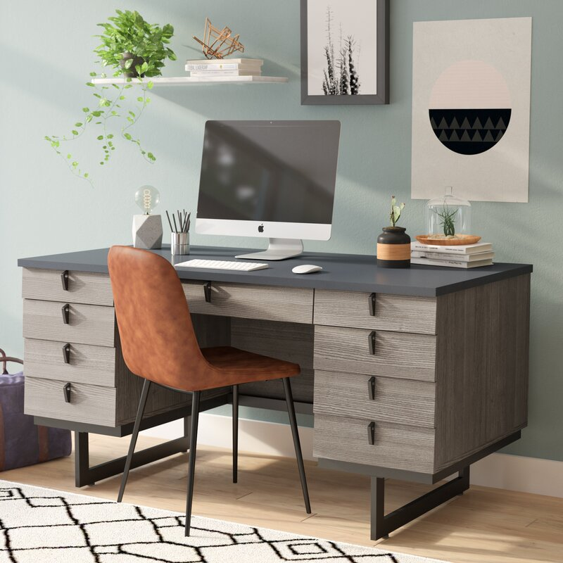 Fine Andreas 9 Drawer Executive Desk Home Interior And Landscaping Mentranervesignezvosmurscom