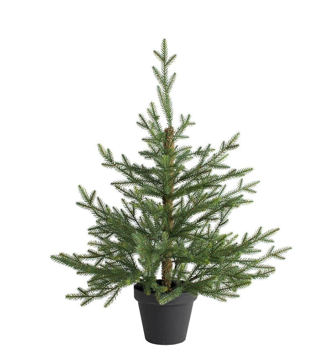 Plow & Hearth Norway Green Spruce Artificial Christmas Tree | Wayfair