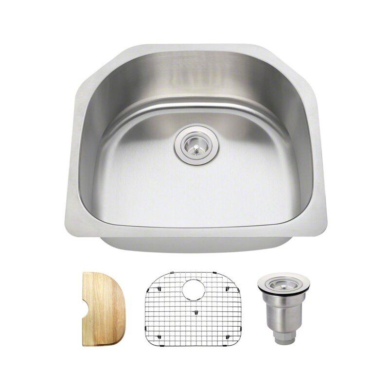 stainless steel 24   x 21   undermount kitchen sink with additional accessories mrdirect stainless steel 24   x 21   undermount kitchen sink with      rh   wayfair com