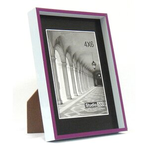 Modern Striped Clean Cut Picture Frame