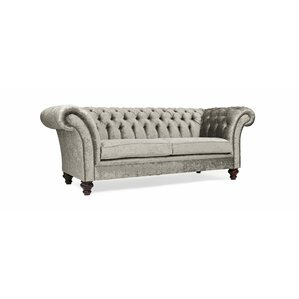 Chesterfield sofa samt  Velvet Sofas | Wayfair.co.uk