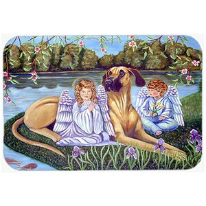 Angels with Great Dane Kitchen/Bath Mat