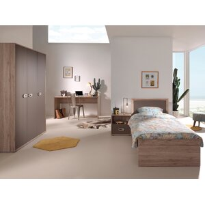 4-tlg. Schlafzimmer-Set Emma, 90 x 200 cm von V..