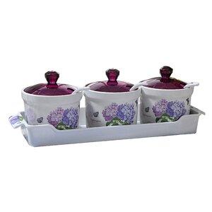 Hydrangea Melamine Set of 10 Spice Jar