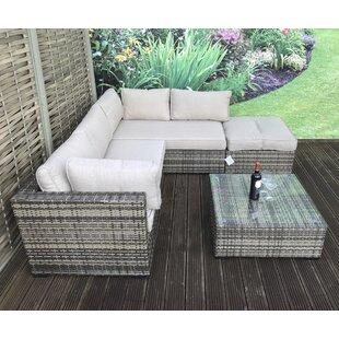 Artus 5 Seater Rattan Effect Sofa Set