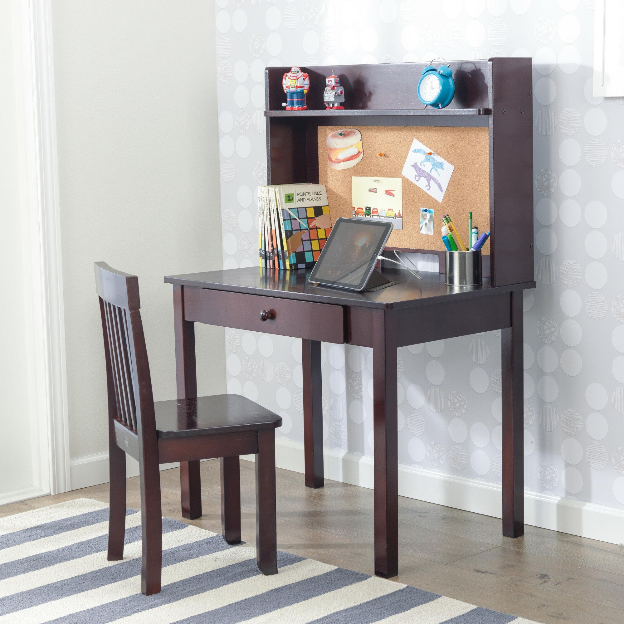 Kidkraft Pinboard 3 Piece 31 Writing Desk And Hutch Set Reviews