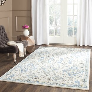 Valley Hand Tufted Cotton Light Blue Ivory Area Rug