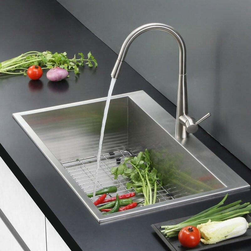 Ruvati tirana 25 x 22 drop in 16 kitchen sink reviews wayfair tirana 25 x 22 drop in 16 kitchen sink workwithnaturefo