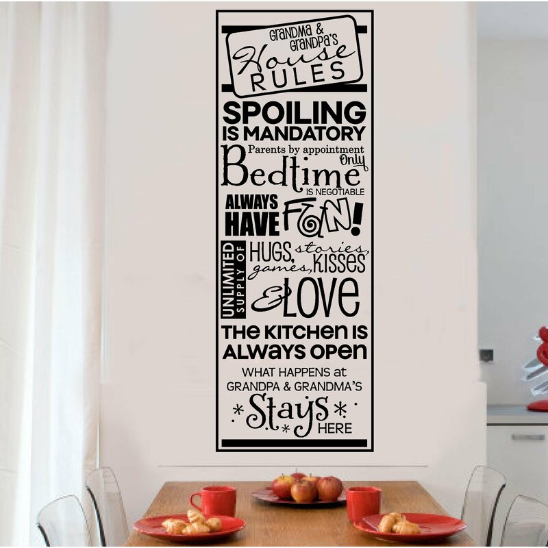Winston Porter Grandparents House Rules Vinyl Letters Words Wall