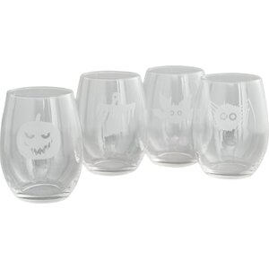 Scary Creatures Stemless 21 oz. Wine Glass