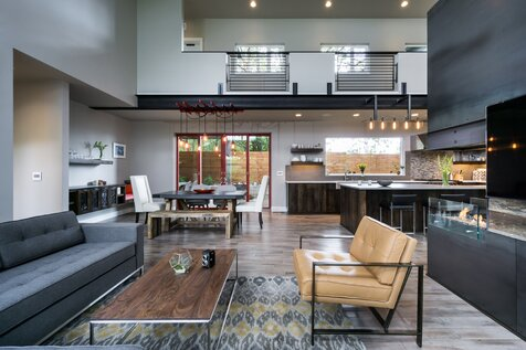 Kuda Photography Industrial Living Room Design
