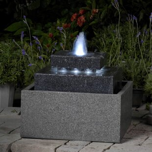 Resin Fibergl Tiered Fountain With Led Light By Jeco Inc