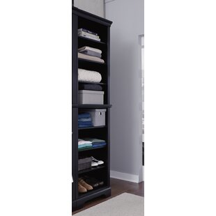 Glenmoor 25 W Black Solid Wood Closet System