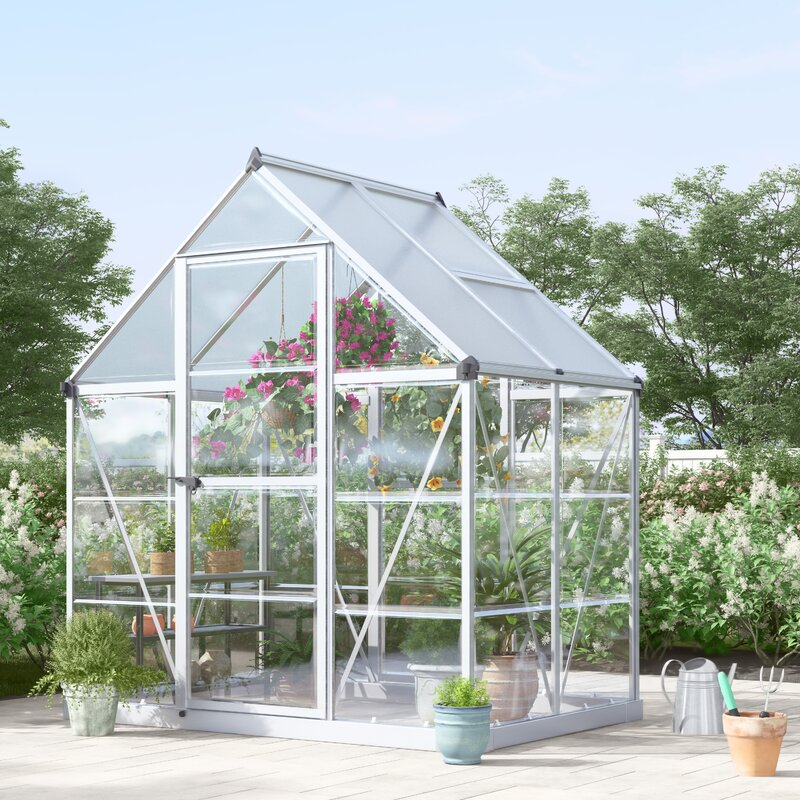 Hybrid 6 Ft  W x 4 5 Ft  D Polycarbonate Greenhouse