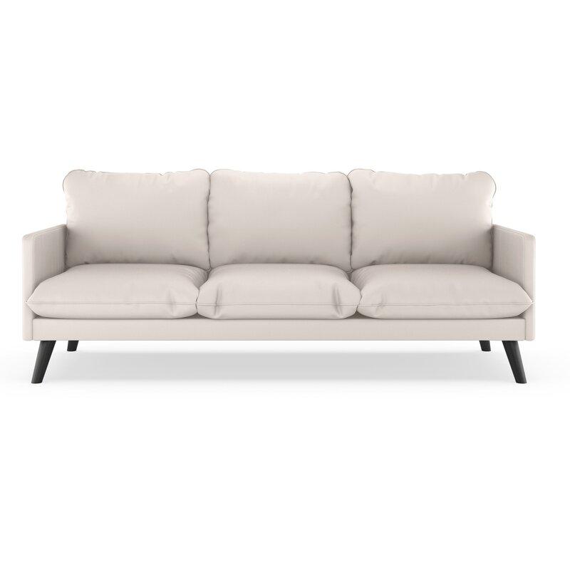 Genial Cragin Vegan Leather Sofa