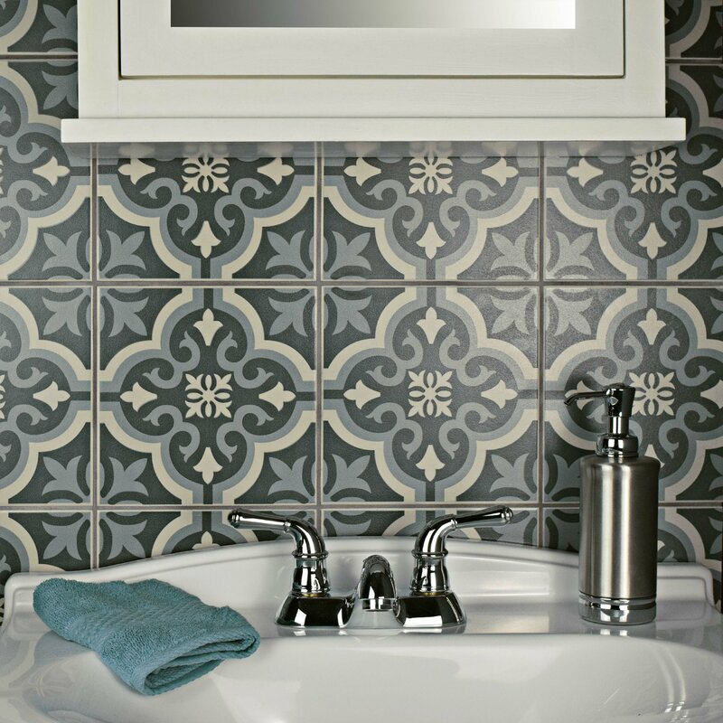 Lima 7 75 X Ceramic Field Tile In Charcoal