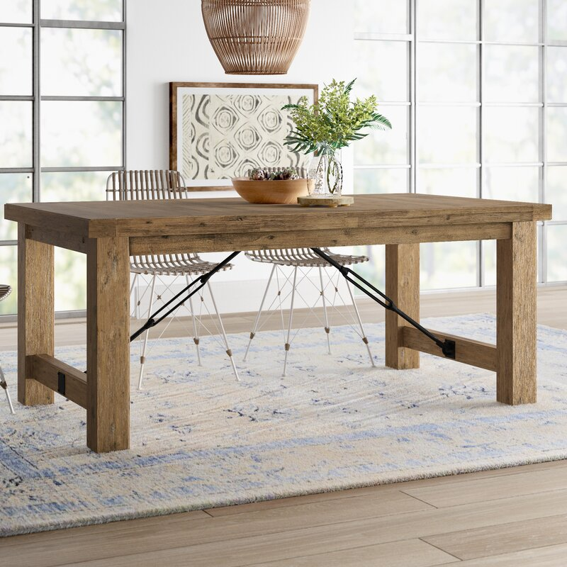 Dulce Extendable Solid Wood Dining Table