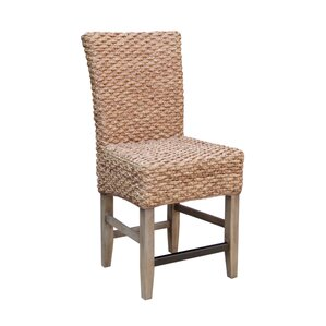 Nyi Seagrass Counter Dining Chair (Set of 2) by Bayou Breeze