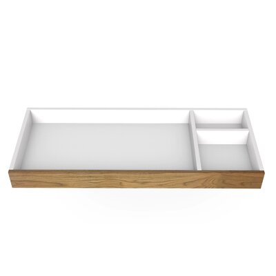 Spot on Square Roh Changing Tray Color: Walnut with White