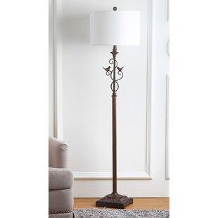 Floor lamp with birds wayfair collman 61 floor lamp aloadofball Choice Image