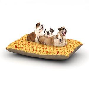 Jane Smith 'Vintage Playground' Dog Pillow with Fleece Cozy Top