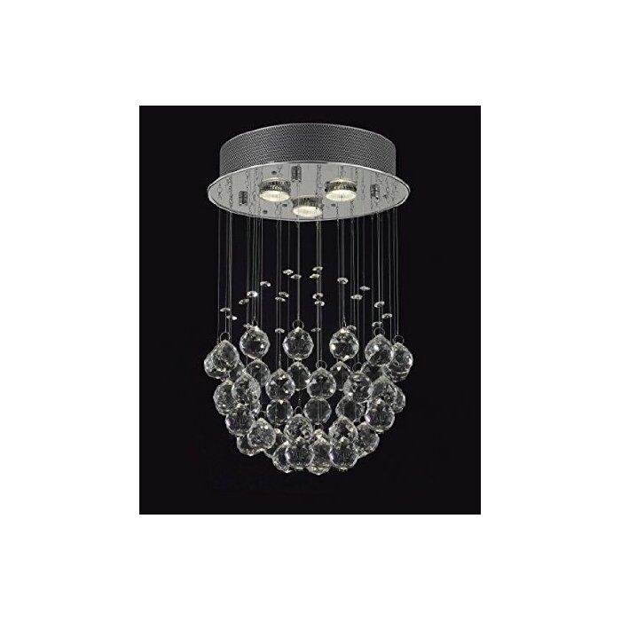 Mercer41 drewes 3 light crystal chandelier reviews wayfair drewes 3 light crystal chandelier aloadofball Images