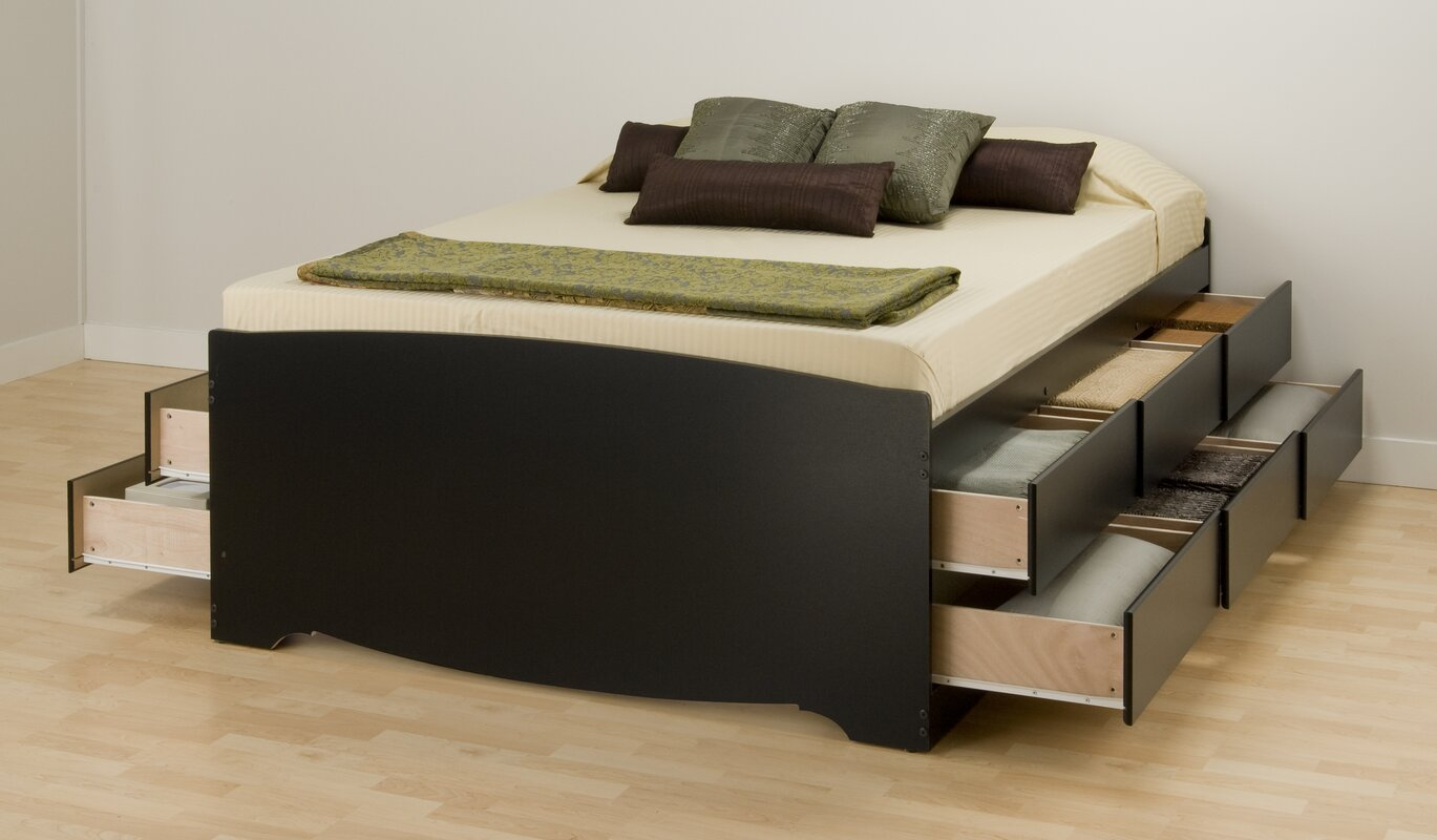 Bed Frames With Storage varick gallery valerio storage platform bed & reviews | wayfair