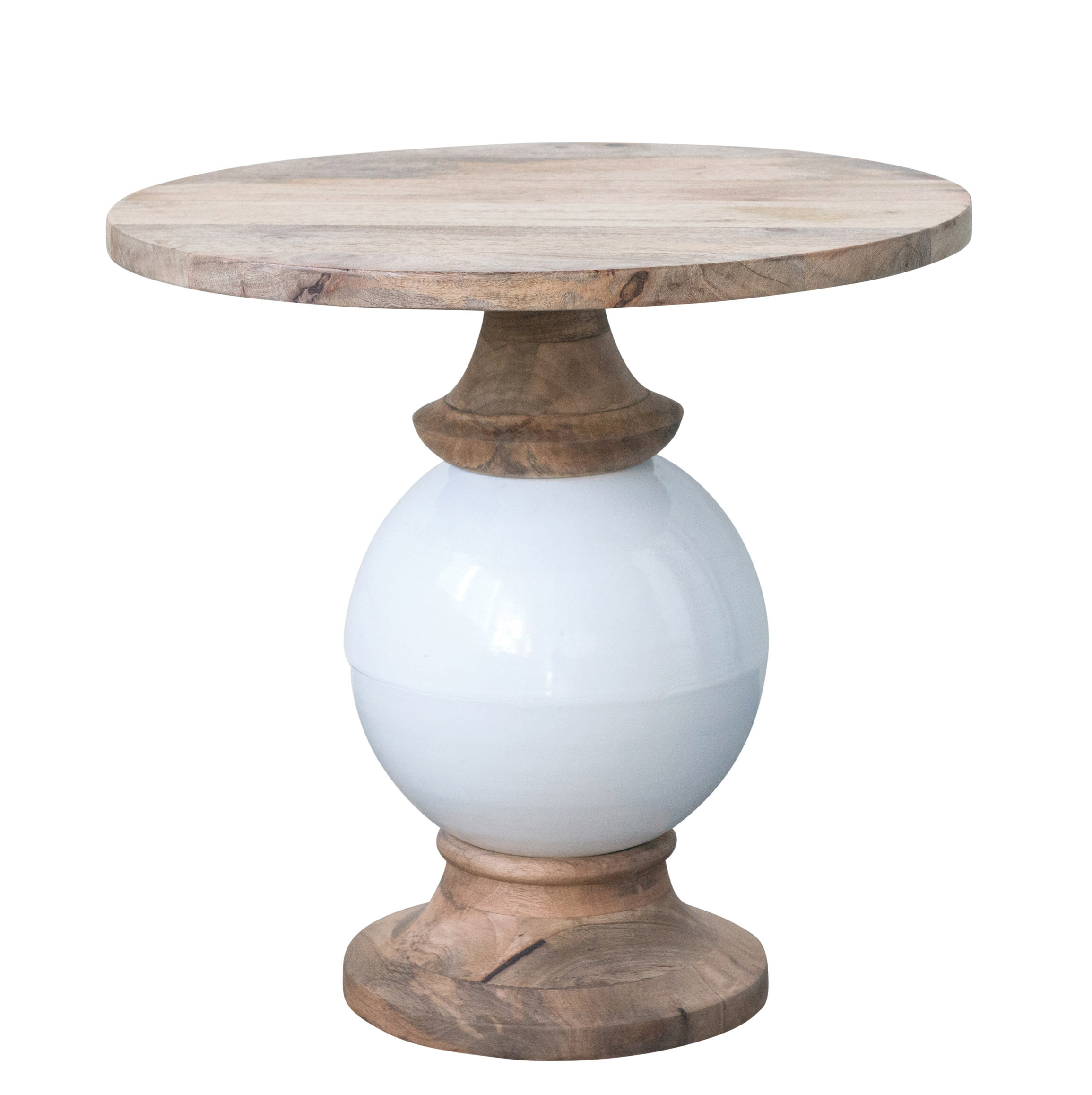 5c0def63613e62 Bungalow Rose Hilary Mango Wood and Metal Round End Table