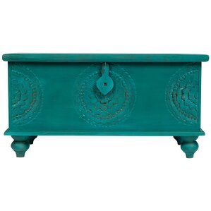 Leelo Hand Carved Medallion Coffee Table Trunk by Porter International Designs