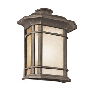 Corner Windows 1-Light Outdoor Flush Mount