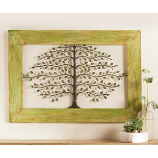 Framed Metal Tree Of Life Wall Décor