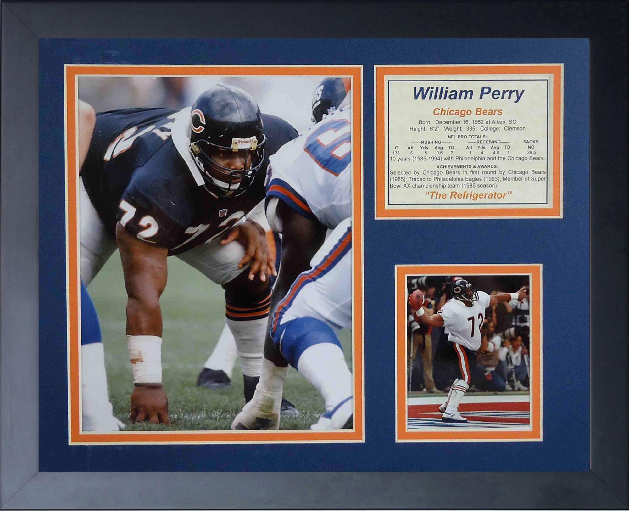 buy popular c7818 bbfa3 William Perry Framed Memorabilia